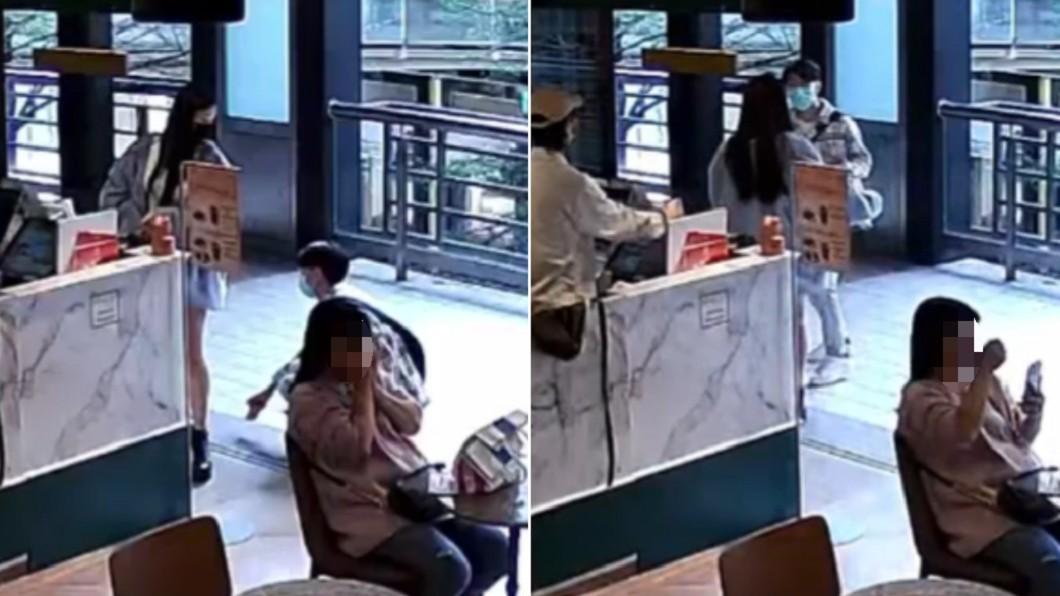 女子在台北市百貨公司遭色狼偷拍。(合成圖/翻攝自「爆料公社」) 光天化日狂拍裙底! 色狼「囂張襲女」拔腿開溜