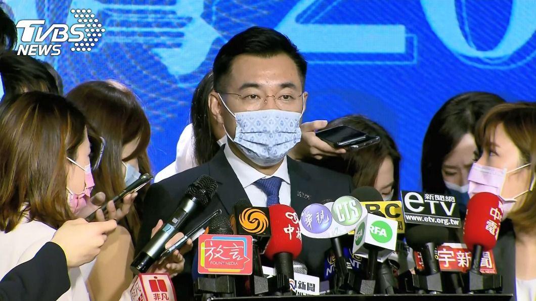 國民黨主席江啟臣。(圖/TVBS) 邀柯文哲遭解讀藍白合 江啟臣:同台不代表合作
