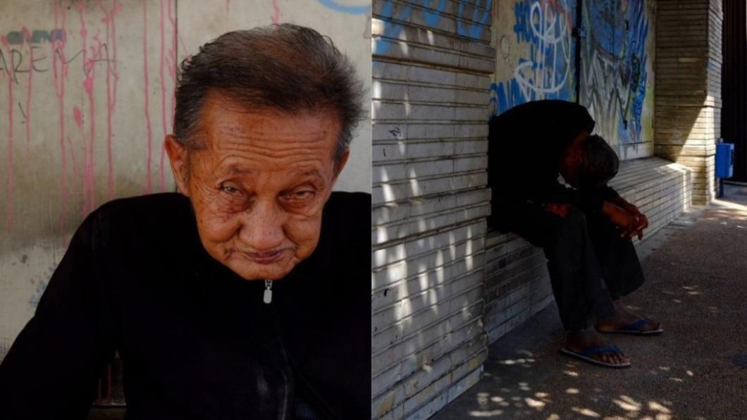 印尼一名老爺爺為信守承諾,於街角苦守45年。(圖/翻攝自hurufkecil推特) 印尼老翁苦守「街角承諾」 癡等愛人45年結局心碎
