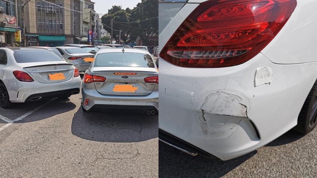 賓士停車被撞凹 網近看「4字紙條」笑瘋:活該
