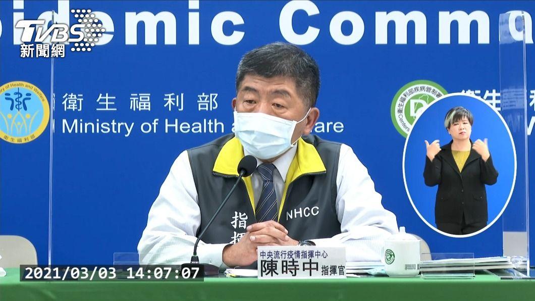 防疫指揮官陳時中。(圖/TVBS) 首批11萬劑AZ疫苗抵台 陳時中:早上9時才知道