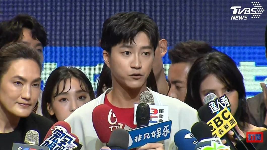 江宏傑6天前在記者會上回應婚變傳聞。(圖/TVBS) 驚爆與福原愛已協議離婚 江宏傑6天前回應藏玄機
