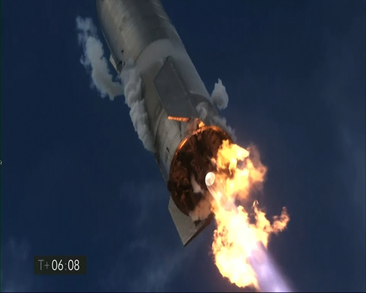 成功著陸後起火 SpaceX星艦火箭又爆炸