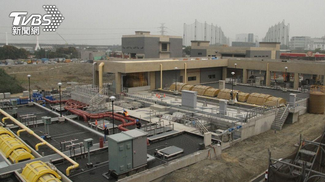 台南市永康水資源回收中心及再生水廠即將完工。(圖/中央社) 台南首座再生水廠將完工 挹注南科產業用水
