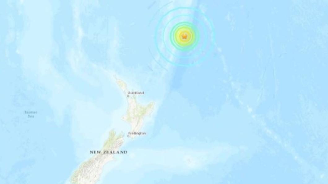 克馬得群島外海8.0強震 發布海嘯警報
