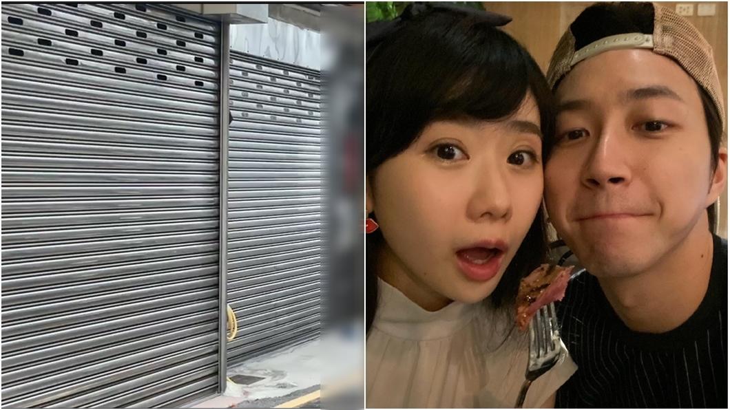 江宏傑夫妻爆婚變,江家拉下鐵門。(圖/TVBS、翻攝自福原愛臉書) 江宏傑老家拉下鐵門爆「封口令」 鄰居氣炸吐實情
