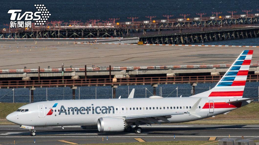 一架波音737 MAX機行因機械問題緊急降落。(圖/達志影像路透社) 美航737 MAX安降新澤西 疑機械問題關一具發動機