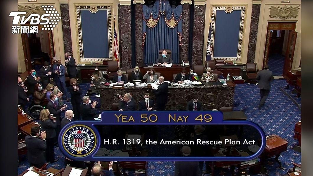 美參院通過1.9兆美元紓困法案 拜登讚揚