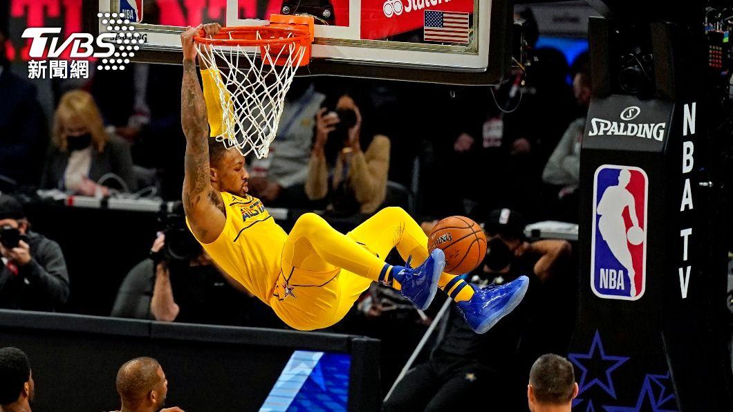 詹姆斯隊里拉德。(圖/達志影像路透社) 里拉德致勝大號三分彈 詹姆斯隊贏下NBA明星賽
