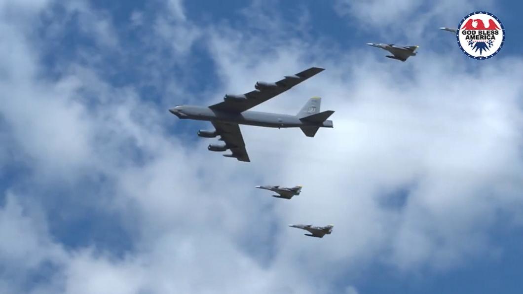 威嚇伊朗 美派B-52轟炸機與盟國中東巡邏