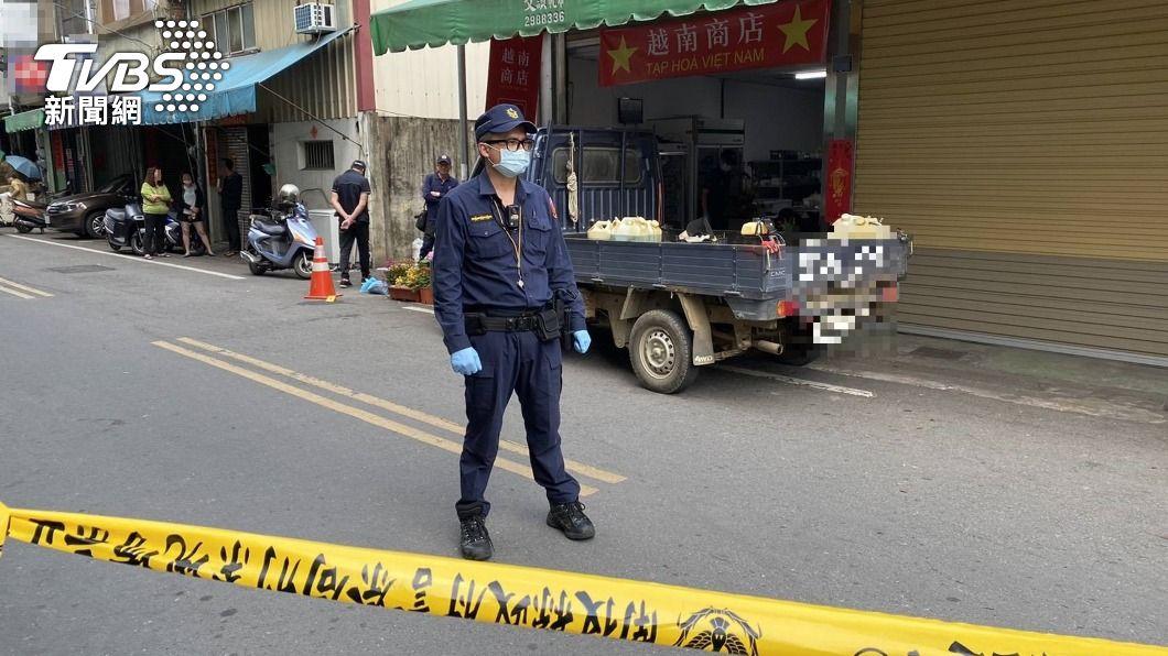 埔里一家越南商店發生凶殺命案。(圖/中央社) 已婚男持刀刺死越南女 警朝感情錢財釀殺機偵辦