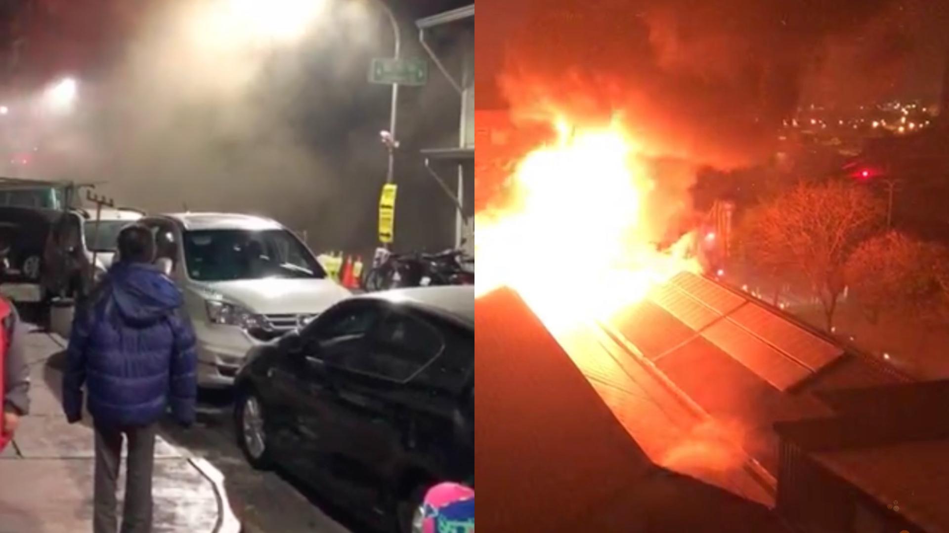 高雄駁二特區凌晨火警 濃煙竄天際居民急撤離