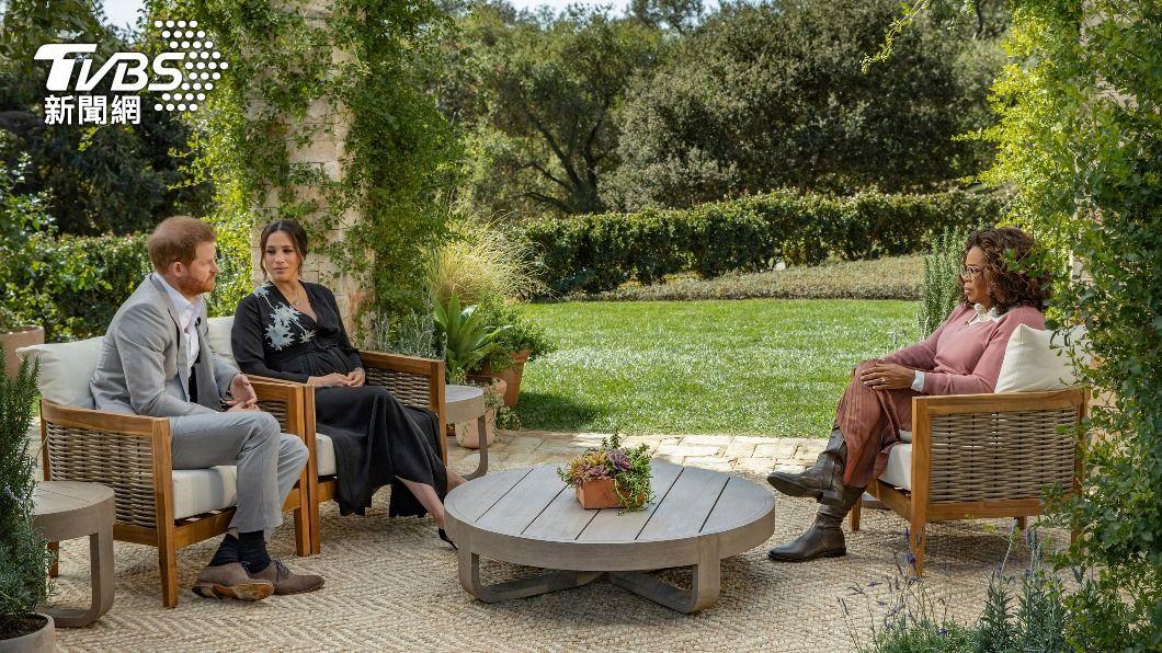 哈利與梅根專訪大爆料。(圖/達志影像路透社) 哈利梅根大爆王室秘辛 公爵夫婦頭銜恐不保