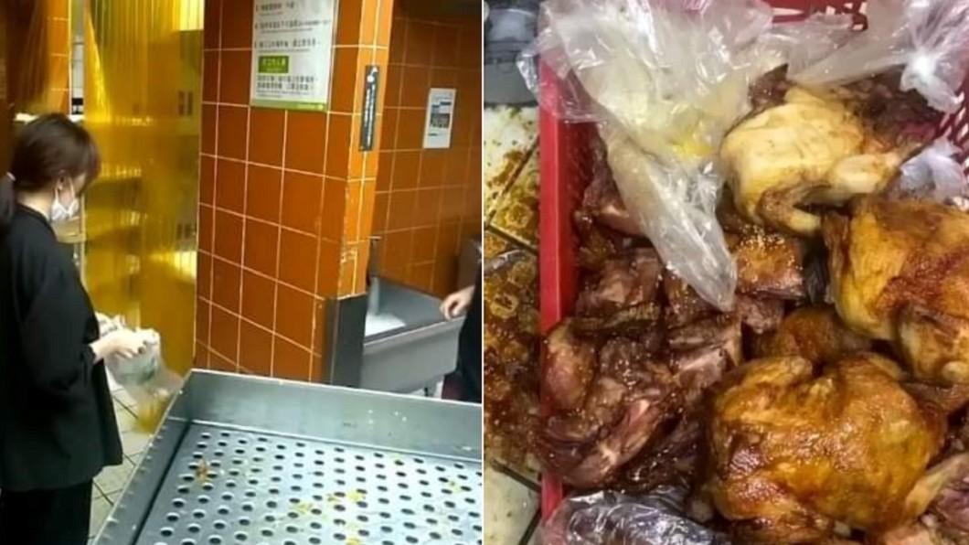 員工爆料被要求販售隔夜熟食。(合成圖/翻攝自「爆料公社」) 遭控臭酸熟食「滷過繼續賣」 家樂福緊急回應!