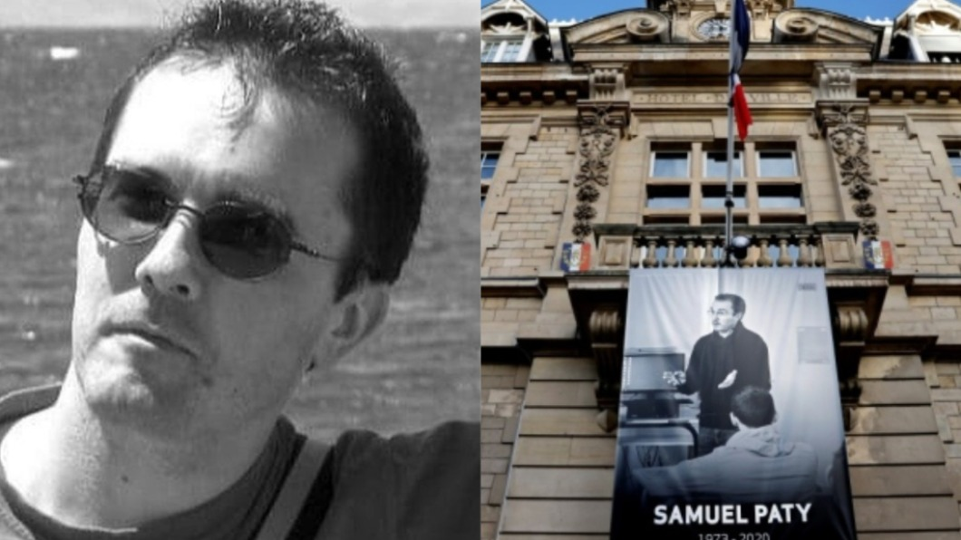 法國一名男歷史老師遭當街斬首。(圖/翻攝自Nootan73、CTVNews推特) 法教師斬首案逆轉!13歲女學生認說謊:翹課怕被罵