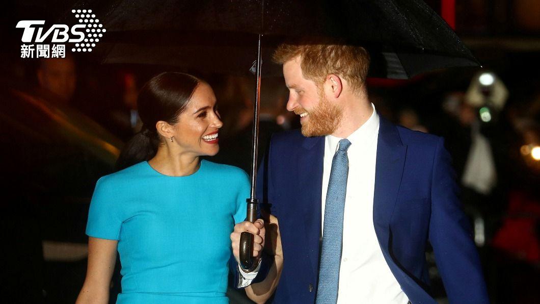 哈利王子和妻子梅根。(圖/達志影像路透社) 英王室短短4行聲明 定調梅根控訴為家族私事