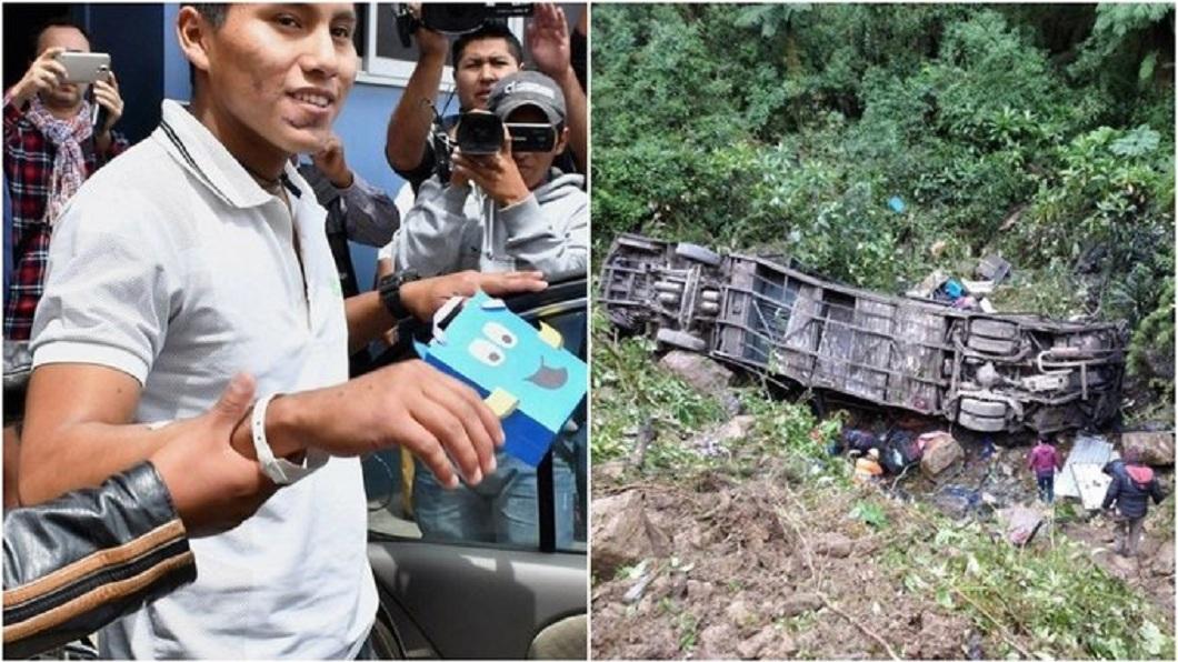 玻利維亞發生一起21死的車禍事件,男子幸運獲救。(圖/翻攝自推特) 死神也沒轍!71死空難他倖存 幸運男再躲21死車禍