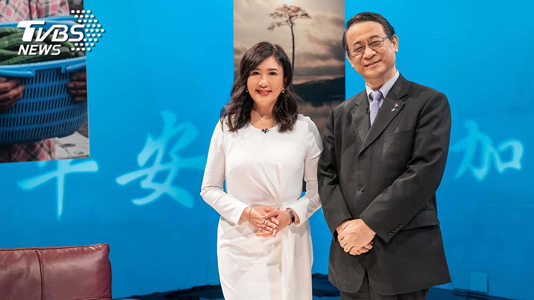 《TVBS看板人物》主持人方念華專訪日本台灣交流協會代表泉裕泰。圖/TVBS 疫情中不要求代價的台灣 日台交流協會代表泉裕泰讚「文明表現」