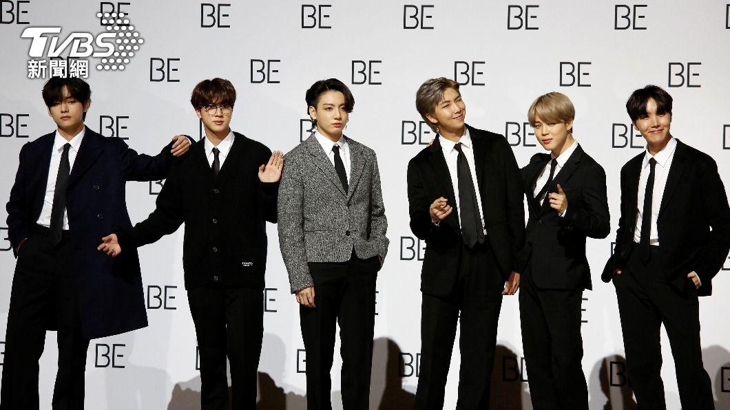 圖/達志影像路透社 2021葛萊美獎超華麗!韓國BTS防彈少年團、泰勒絲、杜娃黎波爭搶風采
