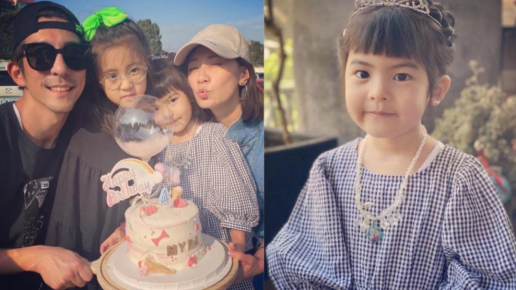 Bo妞昨(15)日慶祝4歲生日。(圖/翻攝自賈靜雯臉書) Bo妞4歲生日萌扮小公主 賈靜雯吐槽「3字」網笑翻