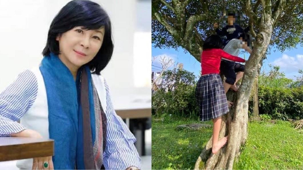 吳淡如日前曬出女兒爬樹照,結果被網友狠酸是「女版韓國瑜」。(圖/翻攝自吳淡如臉書) 女兒爬樹挨酸「女版韓國瑜」 吳淡如譙齷齪提告