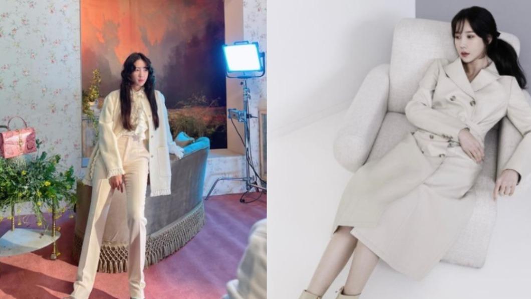 在韓劇《上流戰爭Penthouse》飾演沈秀蓮的李智雅。(圖/翻攝自e.jiah IG) 43歲女星脫戲服私下造型曝 靠單品搭配穿出逆齡感