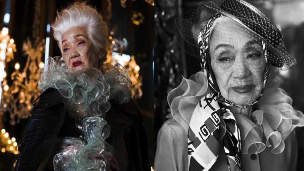 近百歲模特兒郝雲娟。(圖/翻攝自hiddenjuan IG) 不向歲月低頭 93歲失智症「潮模奶奶」席捲時尚圈