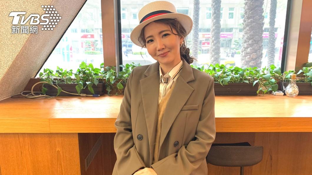 謝忻今到TVBS錄製《11點熱吵店》後受訪。(圖/TVBS) 獨/詮釋林月雲經典名句 謝忻不認「皆是命」:重來不會再犯