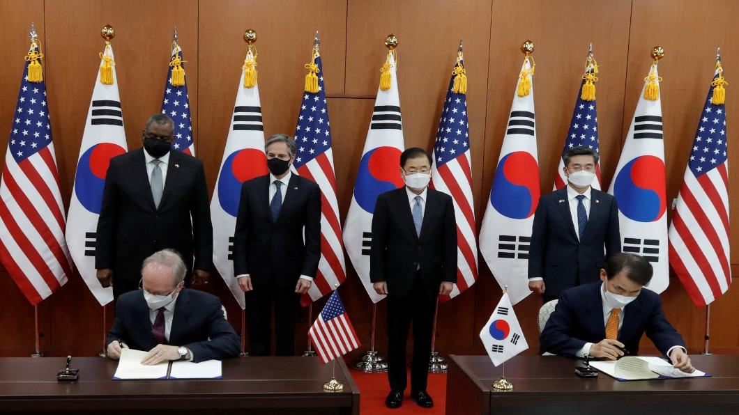 圖/達志影像路透 美韓「2+2會」同盟抗朝核 北韓再嗆:廉價把戲!
