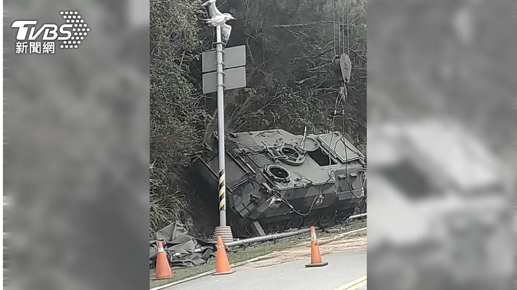 馬祖裝甲車翻覆5人送醫 軍方回應了