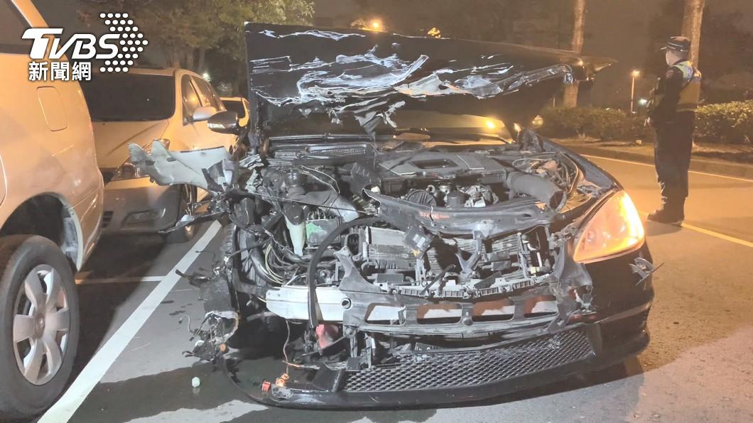 (圖/TVBS) 受託代駕賓士碰撞貨車釀1死竟肇逃 王男聲押獲准