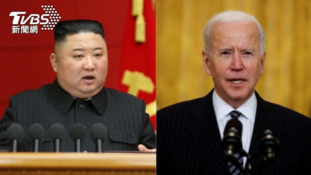 北韓領導人金正恩、美國總統拜登。(合成圖/達志影像路透社) 拜登上任將近2個月 北韓持續不理睬美國