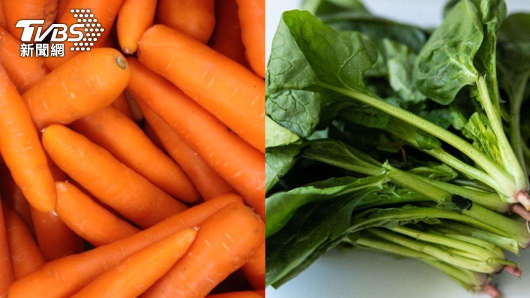 胡蘿蔔、菠菜 都不適合生吃。(示意圖/shutterstock達志影像) 胡蘿蔔、菠菜千萬別生吃 專家:恐心臟麻痺、骨質疏鬆
