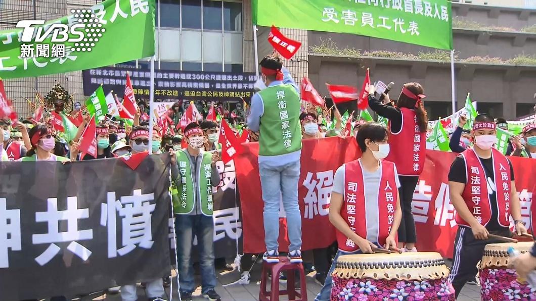 圖/TVBS 控環狀線北環段「出土段」影響交通、產業 自救會800人北市府抗議