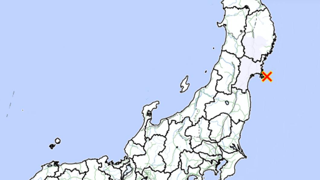 日本宮城縣外海發生規模7.2強震。(圖/翻攝自日本氣象廳網頁) 日本宮城縣外海7.2強震 緊急發佈海嘯警報