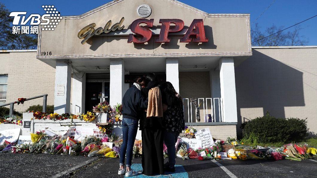 亞特蘭大16日發生一起槍擊案,其中遭殺害者有6名為亞裔女性。(圖/達志影像路透社) 亞特蘭大槍擊涉歧視 議員帶頭示威力挺亞裔