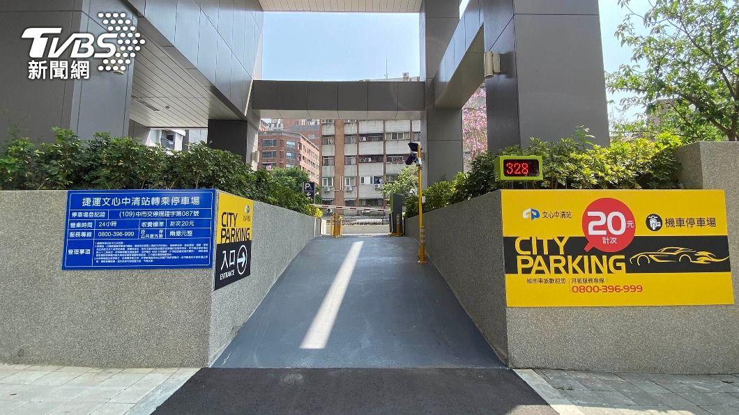 台中捷運試營運期間,機車可免費停放停車場。(圖/中央社) 中捷25日起試營運30天 免費停放14站機車停車場