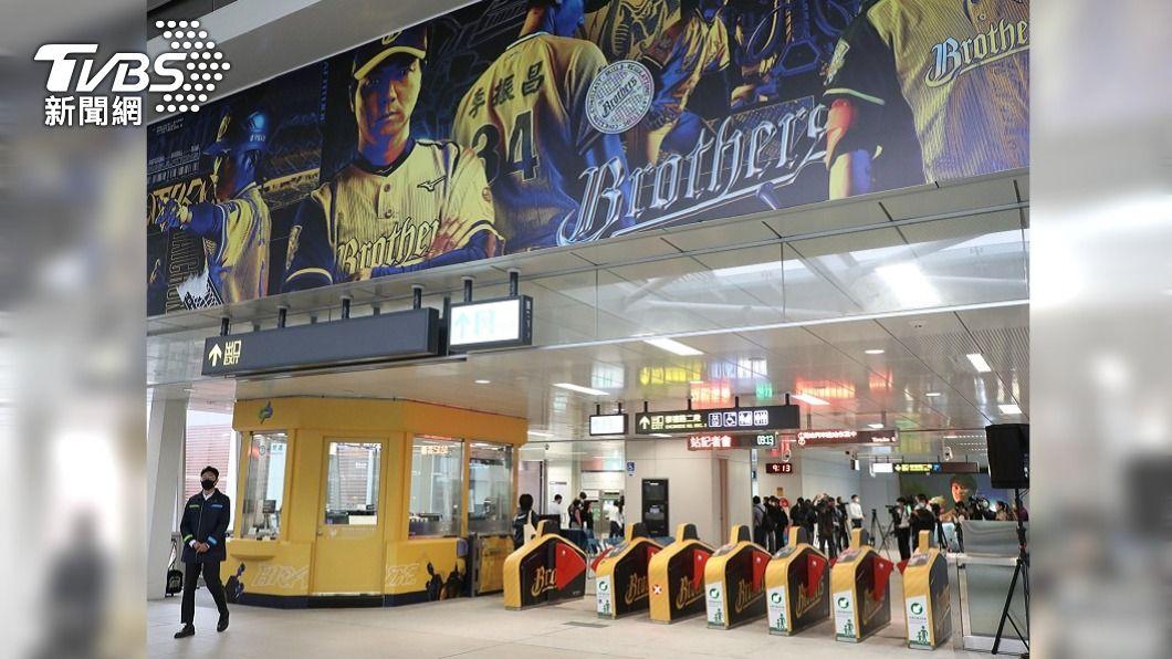 (圖/中央社) 中捷綠線將恢復試營運 中信兄弟主題站驚艷開箱