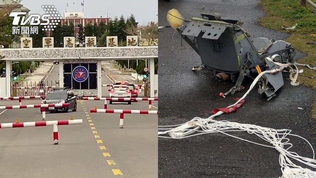 F-5E戰鬥機在旭海漁港東方1.4浬雷達光點突然消失,警方在屏東牡丹岸際尋獲1具傘具連座椅。(圖/TVBS) 不斷更新/F-5E飛官遺體相驗完成 檢察官公布死因