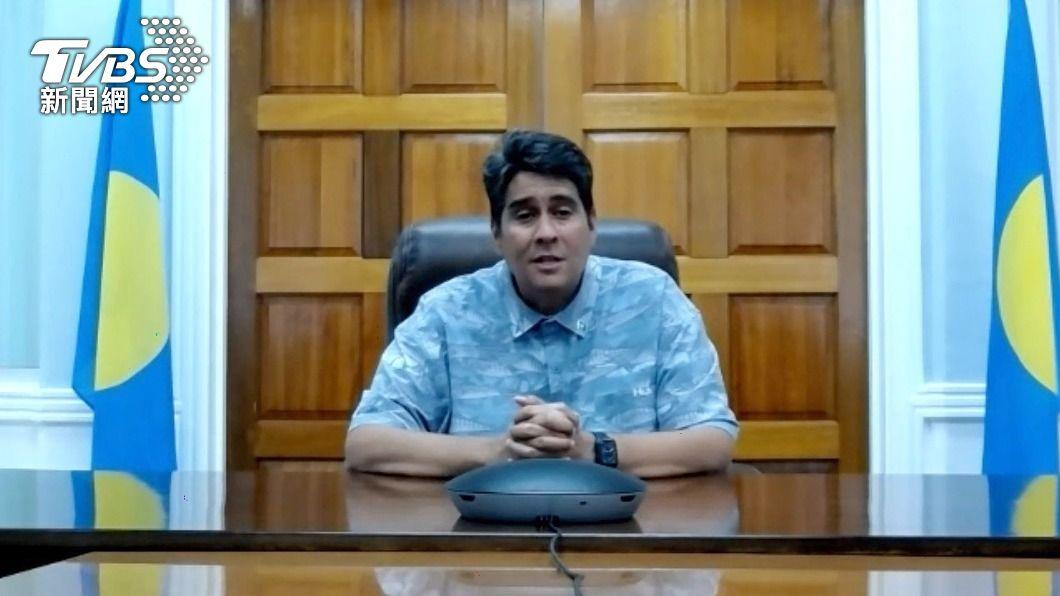 帛琉總統惠恕仁。(圖/中央社) 不甩北京 帛琉總統挺台:我們有交朋友的自由