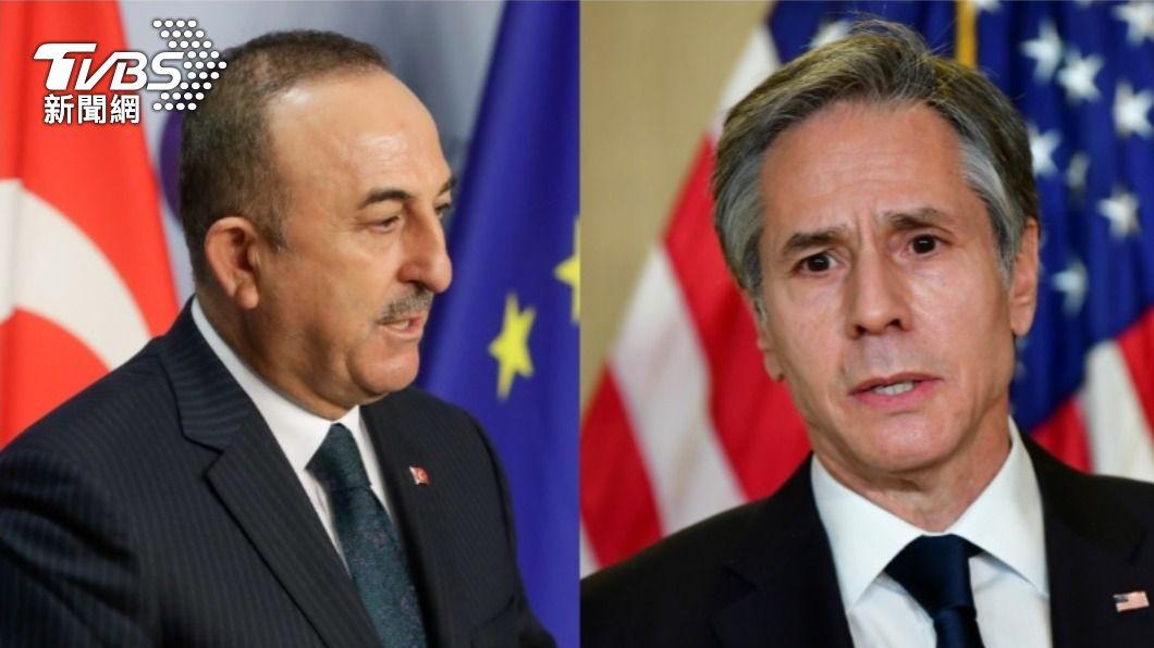 土耳其外交部長卡夫索格魯、美國務卿布林肯。(合成圖/達志影像路透社) 土耳其外長與美國務卿布林肯 傳北約峰會會談