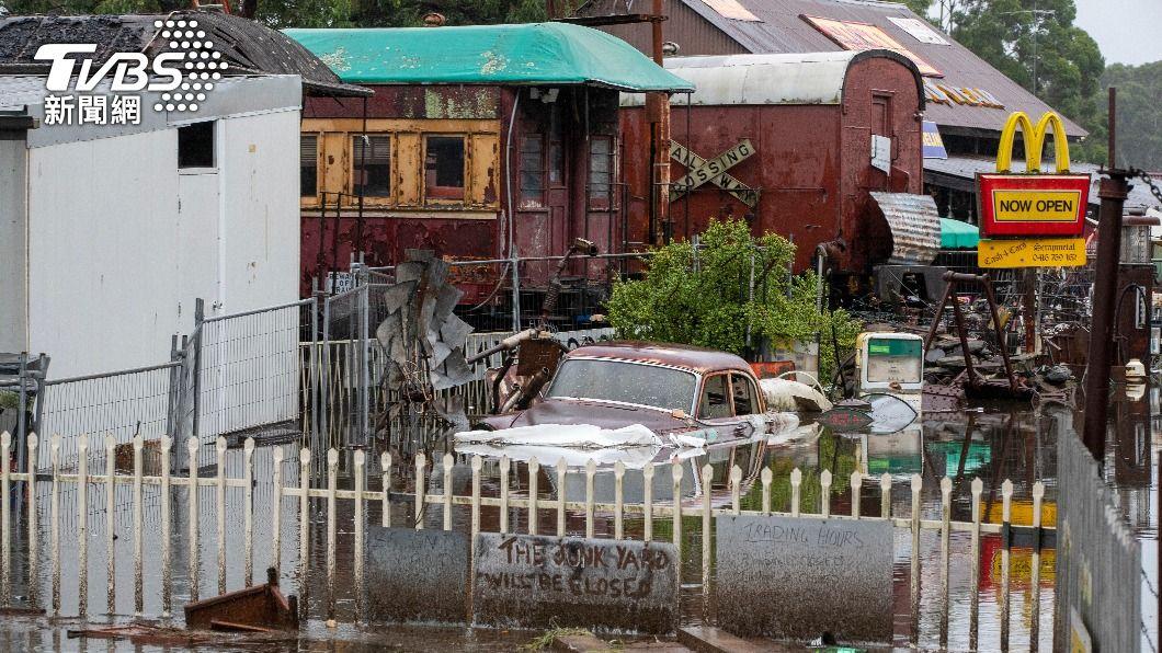澳洲遭遇百年洪患。(圖/達志影像美聯社) 去年野火肆虐、今年世紀洪患 澳洲氣候變遷敲警鐘