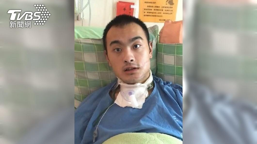 特戰兵陳子多在服役期間因公受傷導致重殘。(圖/TVBS) 入伍6天被滑輪重擊 特戰兵終生失智獲國賠1010萬