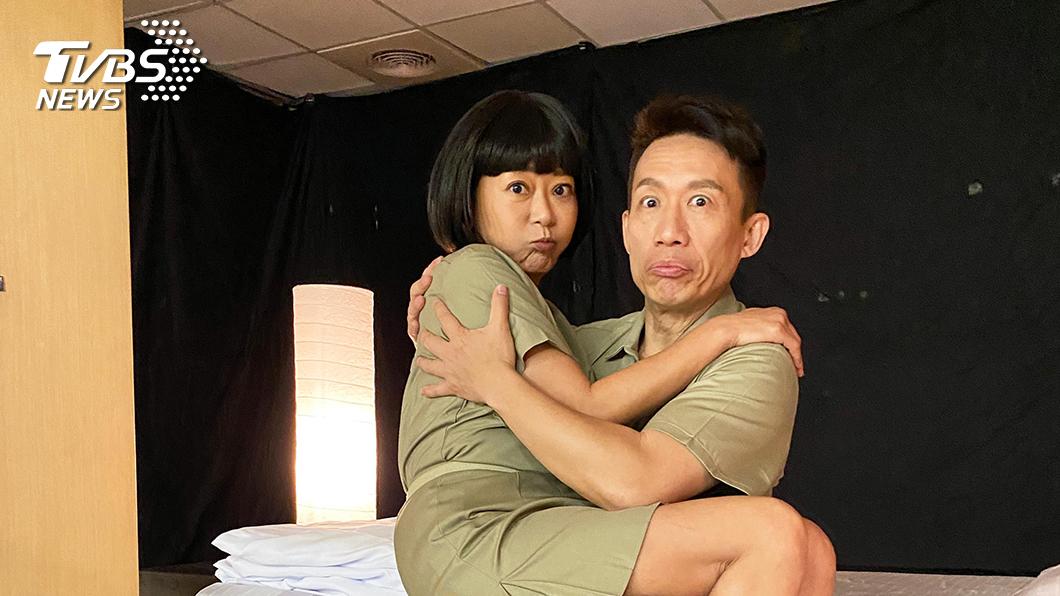 曹蘭郭子乾首次合作獻《女力報到-愛情公寓》。圖/TVBS 郭子乾霸氣公主抱曹蘭 首次合作獻《女力報到-愛情公寓》