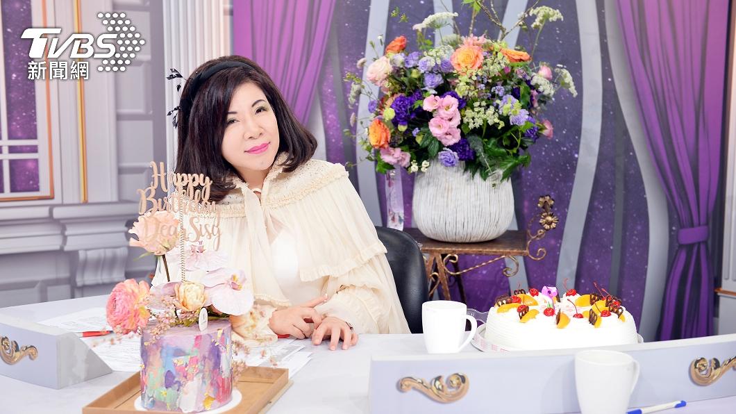 陳文茜即將度過63歲生日。(圖/TVBS) 驚喜!陳文茜63歲生日 節目準備蛋糕慶祝