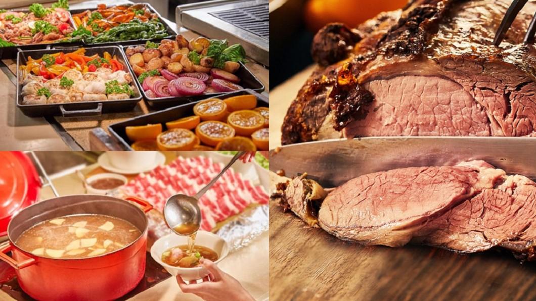 (合成圖/翻攝自台北凱薩大飯店、新板希爾頓酒店網站) 金牛、屬牛都半價!2大餐廳好康 最低360元吃到飽