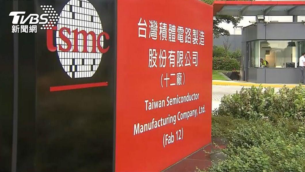 (圖/TVBS) 美科技股重挫 台積電早盤股價下跌1%