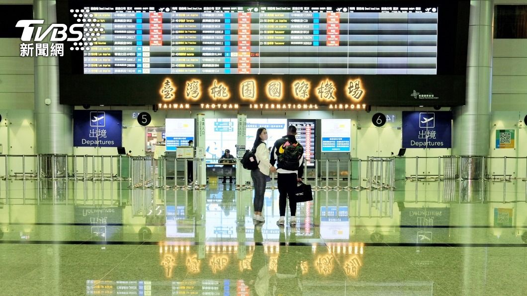 (圖/中央社) 台帛旅遊泡泡4/1首發 旅客須提前5.5小時到桃機