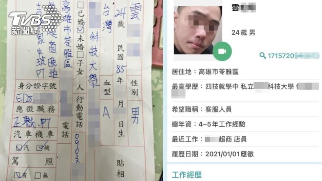 偷竊通緝犯持假身分應徵店員行竊。(圖/TVBS) 男偷身分證假應徵店員 上班首日大膽「自盜12萬」落跑