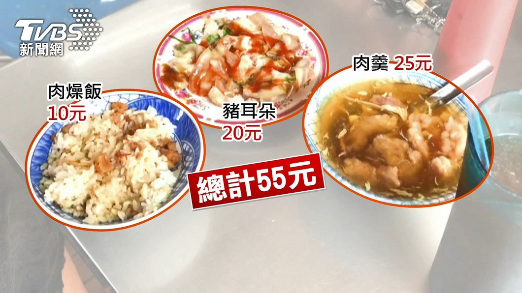 「飯菜湯」3樣55元 台南超佛心小吃店曝光